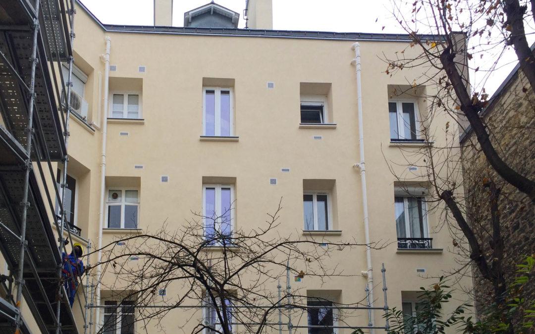 Ravalement immeuble ancien – Paris 16ième